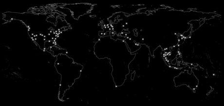 Vinjatek World Travel Map