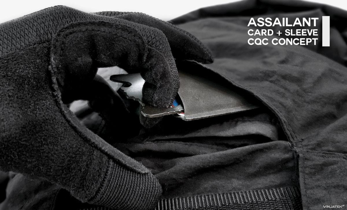 Assailant Card Sleeve CQC Concept /// Vinjatek