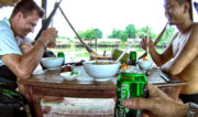 Lunch at a Lake Restaurant in Battambang, Cambodia /// Vinjatek