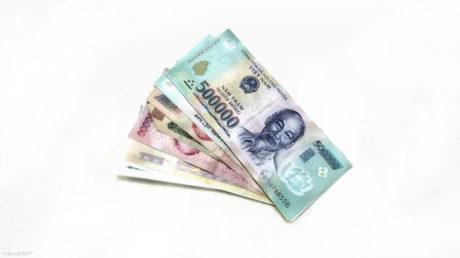 Vietnamese Dong Cash Money Laid Out Currency /// Vinjatek