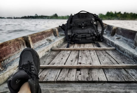 Boat Ride via Cai Rong Floating Market, Can Tho, Vietnam // FAST Pack Scout Backpack and LALO Tactical Shadow Amphibian Boots /// Vinjatek