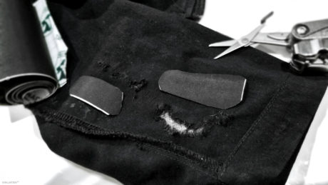 Gear Tactics: Quickly Fix a Tear in Clothes Without Sewing, in The Field: Cut Patches