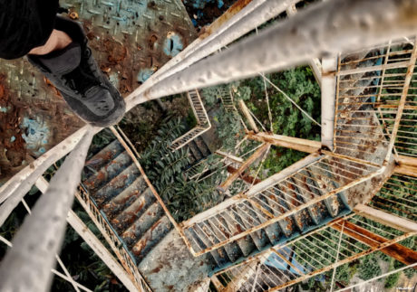 Abandoned Amusement Park Staircase in Hanoi, Vietnam /// Urban Survival Skill From Vinjatek