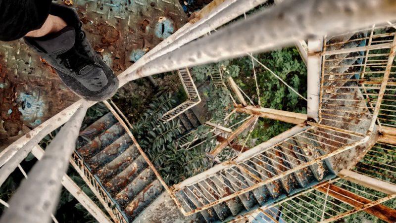 Abandoned Amusement Park Staircase in Hanoi, Vietnam /// Vinjatek