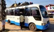 Bus From Vientiane to Vang Vieng, Laos /// Vinjatek
