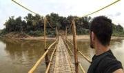 Bamboo Bridge in Luang Prabang, Laos /// Vinjatek