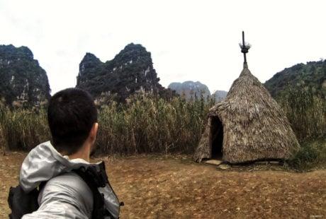 Jungle Hut at Kong Skull Island in Nina Binh, Vietnam /// Vinjatek