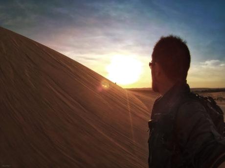 Covert Operative at the Mui Ne Sand Dunes in Vietnam /// Vinjatek