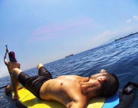 Paddle Boarding at Gili Air Island in Indonesia /// Vinjatek