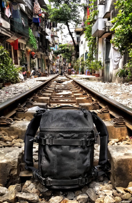 Triple Aught Design FAST Pack Scout VX on Train Tracks in Hanoi, Vietnam. Tradecraft and Urban Survival Skills Guide For Covert Operatives. /// Vinjatek