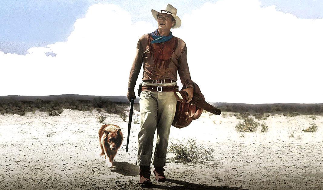 John Wayne with Dog /// Vinjatek