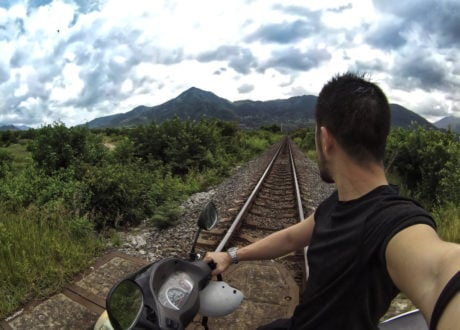 Motorbiking Train Tracks in Vietnam /// Vinjatek
