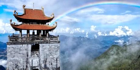 Rainbow Over Fansipan Mountain Temple /// Vinjatek