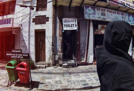 Street Toilet in Kathmandu, Nepal /// Vinjatek