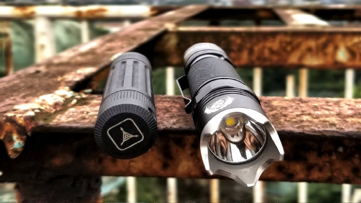 URBEX Gear in Hanoi, Vietnam: Black Scout Survival BSS Flashlight and Triple Aught Design Life Capsule Omega /// Vinjatek