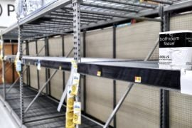 Last Toilet Paper on The Shelves Aisle at Walmart /// Vinjatek